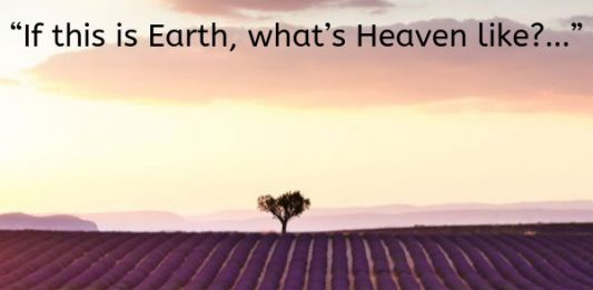 """If this is Earth, what's Heaven like?…"""