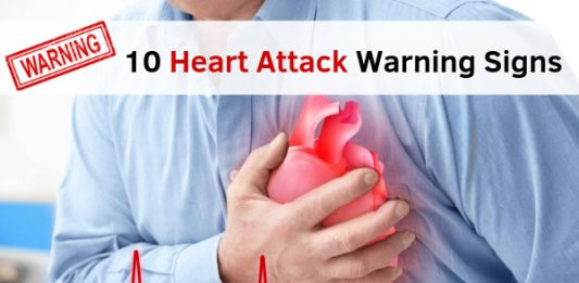 10 Heart Attack Warning Signs