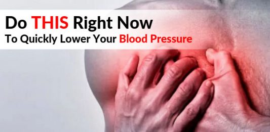 Do THIS Right Now To Quickly Lower Your Blood Pressure